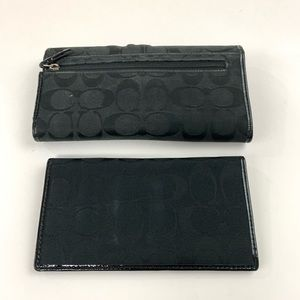 Coach Bags - Coach Womens Wallet Trifold Button Shut Checkbook